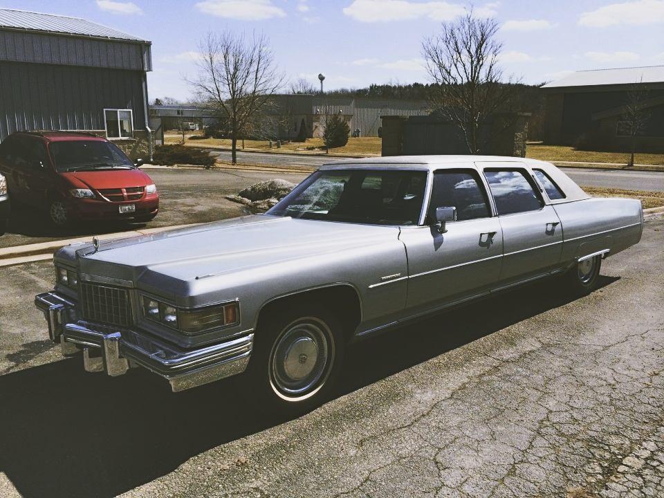 1976 cadillac fleetwood brougham limousine for sale. Black Bedroom Furniture Sets. Home Design Ideas