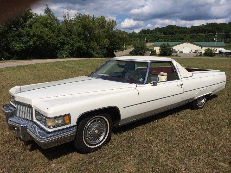 1975 cadillac de ville pickup for sale. Black Bedroom Furniture Sets. Home Design Ideas