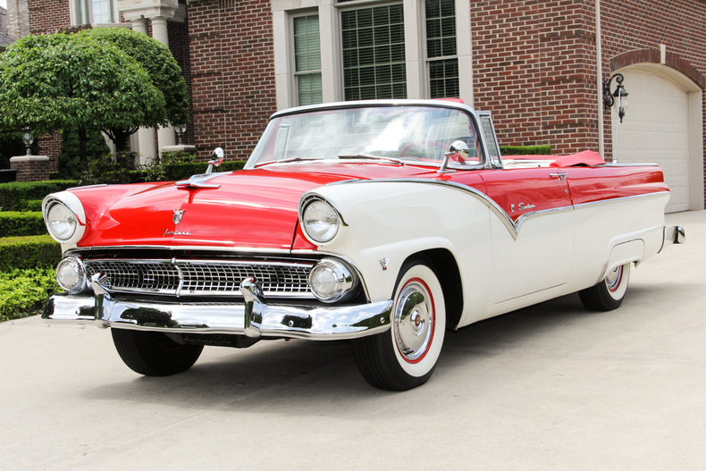 1955 Ford Fairlane Sunliner Convertible on plymouth roadster