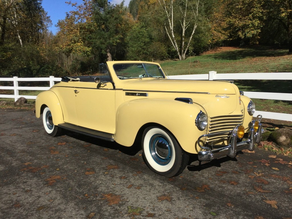 1940 Chrysler New Yorker Convertible For Sale